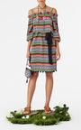 Striped Off The Shoulder Saita Dress by FIGUE for Preorder on Moda Operandi
