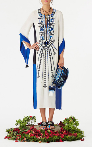 Embroidered Naia Kaftan by FIGUE for Preorder on Moda Operandi