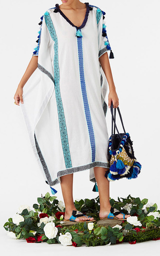 Stripe Paola Kaftan With Tassels by FIGUE for Preorder on Moda Operandi