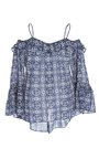 Printed Off The Shoulder Magalie Top by FIGUE for Preorder on Moda Operandi