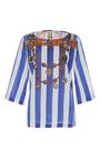 Printed Serafina Striped Top by FIGUE for Preorder on Moda Operandi