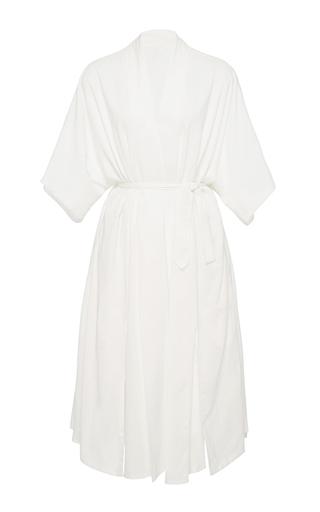 Medium hensely white kimono slit dress