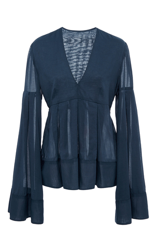 Medium hensely blue poet s blouse