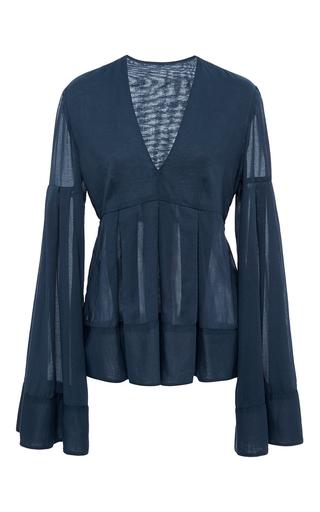Medium hensely blue poet s blouse