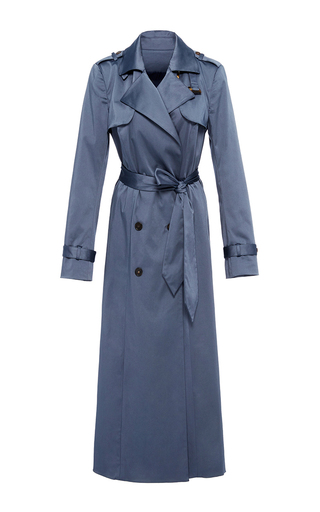 Medium hensely blue long trench coat