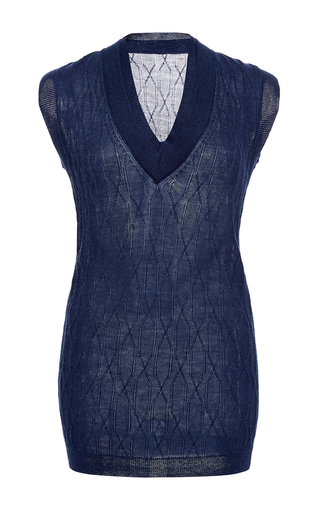 Double Collar Sweater Vest  by HENSELY for Preorder on Moda Operandi