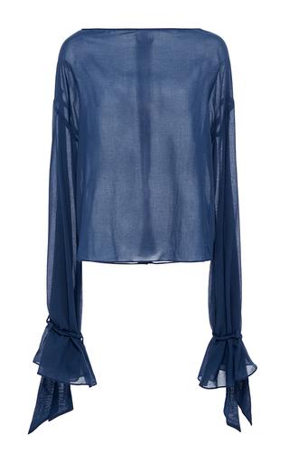 Medium hensely blue tie sleeve top