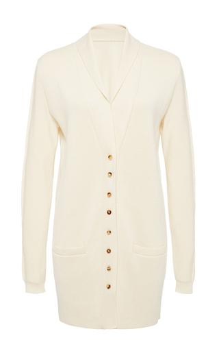 Medium hensely white shawl collar cardigan