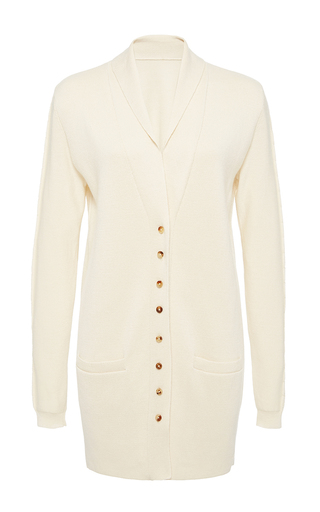 Medium hensely white shawl collar cardigan