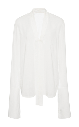 Medium hensely white french cuff blouse