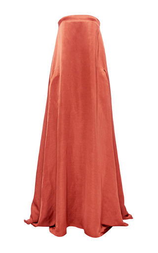 Medium hensely orange strapless gown