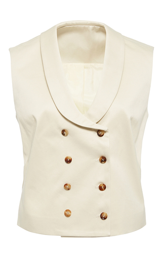 Medium hensely ivory double breasted vest