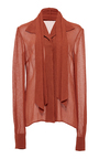 Neck Tie Blouse  by HENSELY for Preorder on Moda Operandi