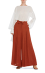 Textured Inverted Pleat Pant By Hensely Moda Operandi