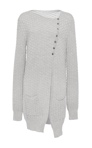 Medium hensely light grey asymmetric cardigan