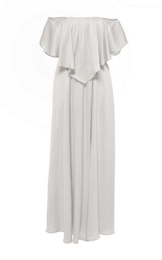 Medium hensely light grey off the shoulder dress
