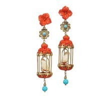 Aviary Classic Orange/Turquoise by OF RARE ORIGIN for Preorder on Moda Operandi