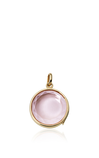 Medium loquet london pink pink quartz faceted locket on a 32 sphere chain