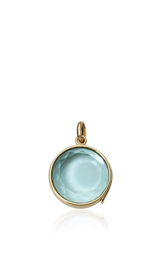 Medium loquet london blue blue topaz faceted locket on a 32 chain