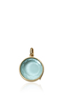 """Blue Topaz Faceted Locket On A 18"""" Yellow Gold Chain by LOQUET LONDON for Preorder on Moda Operandi"""