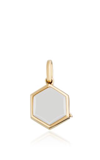 Medium loquet london gold yellow gold hexagonal locket on a 18 chain