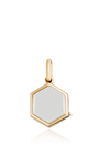 "Yellow Gold Hexagonal Locket On A 18"" Chain by LOQUET LONDON for Preorder on Moda Operandi"