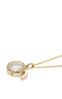 """Yellow Gold Diamond And Coloured Sapphire Locket On A 32"""" Chain by LOQUET LONDON for Preorder on Moda Operandi"""
