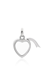 "White Gold Small Heart Locket On A 18"" White Gold Chain by LOQUET LONDON for Preorder on Moda Operandi"