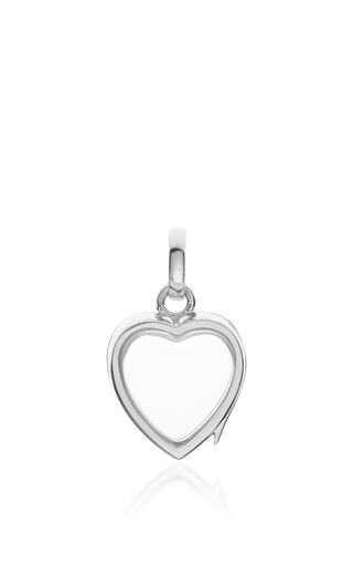 Medium loquet london silver white gold small heart locket on a 18 white gold chain