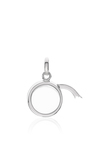 """White Gold Small Round Locket On A 18"""" White Gold Chain by LOQUET LONDON for Preorder on Moda Operandi"""