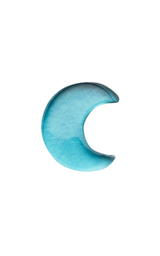 Medium loquet london blue topaz moon charm