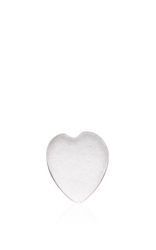 Rose Quartz Heart Charm by LOQUET LONDON for Preorder on Moda Operandi