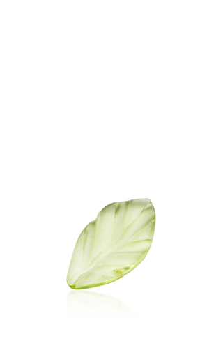 Medium loquet london green peridot leaf charm