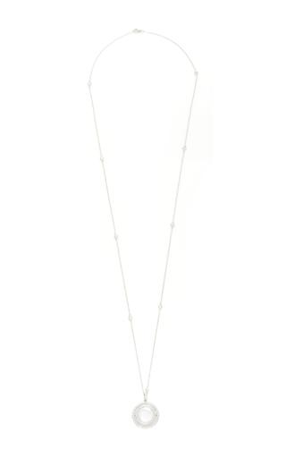 "18 K Double Diamond Revolving Locket 32"" Diamond Chain by LOQUET LONDON for Preorder on Moda Operandi"