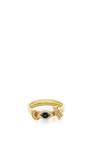 Medium loquet london gold 18k puzzle ring hope and protection