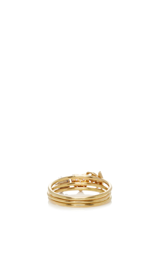 18 K Puzzle Ring Love And Happiness by LOQUET LONDON for Preorder on Moda Operandi