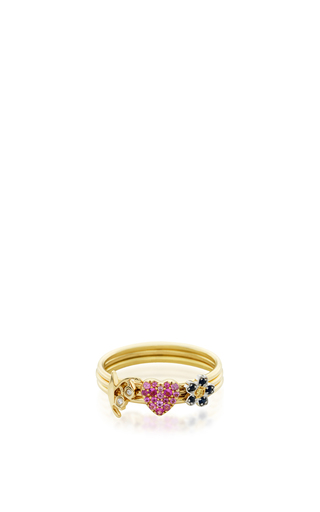 Medium loquet london gold 18k puzzle ring love and happiness