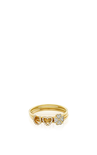Medium loquet london gold 18k puzzle ring love and luck