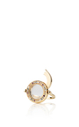18 K Diamond And Coloured Sapphire Ring In Yellow Gold by LOQUET LONDON for Preorder on Moda Operandi