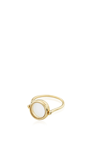 Medium loquet london gold 14k yellow gold 12mm round locket ring