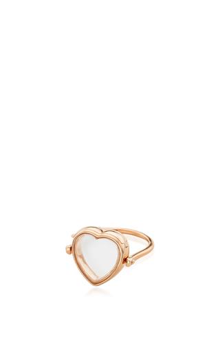 Medium loquet london rose gold 14k rose gold 15mm heart locket ring