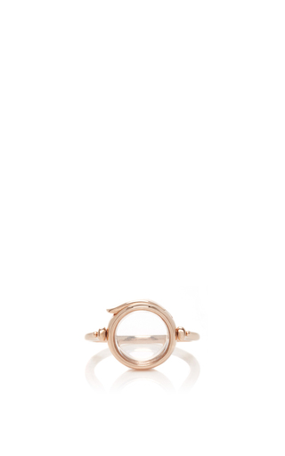 Medium loquet london rose gold 14k rose gold 12mm round locket ring