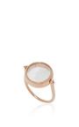 14 K Rose Gold 15 Mm Round Locket Ring by LOQUET LONDON for Preorder on Moda Operandi
