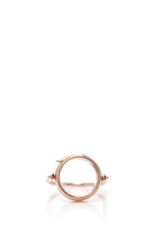 Medium loquet london rose gold 14k rose gold 15mm round locket ring