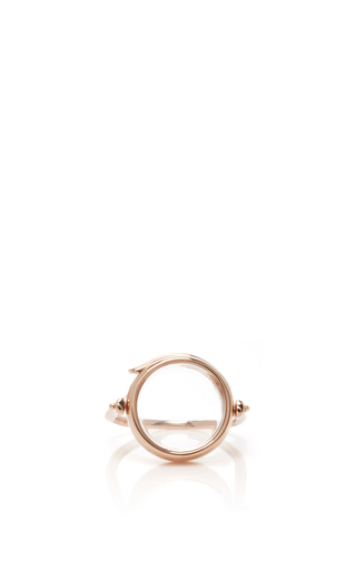 Medium loquet london rose gold 14k rose gold 15mm round locket ring