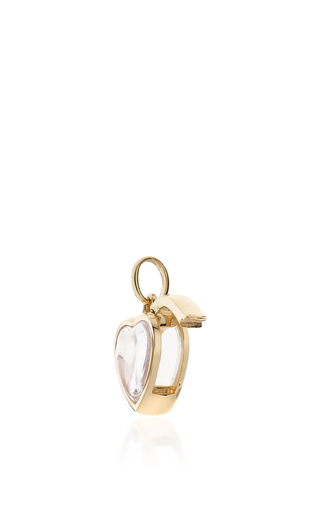 Small Heart Locket In Gold by LOQUET LONDON for Preorder on Moda Operandi