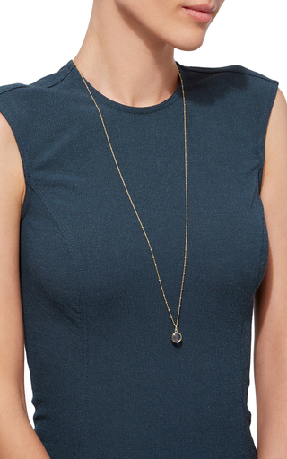 Small Round Locket In Gold by LOQUET LONDON for Preorder on Moda Operandi