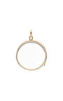 Medium Round Locket In Gold by LOQUET LONDON for Preorder on Moda Operandi