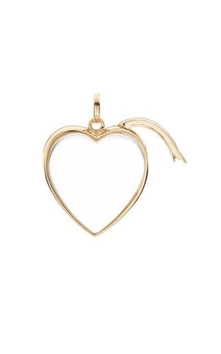 Medium Heart Locket In Gold by LOQUET LONDON for Preorder on Moda Operandi
