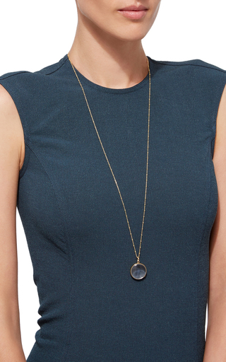 Large Round Locket In Gold by LOQUET LONDON for Preorder on Moda Operandi